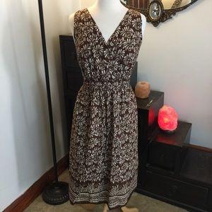 Avenue 22/24 BROWN White Sleeveless Dress EUC